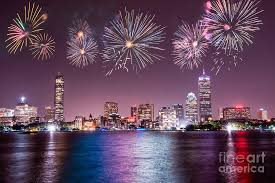 fire works in boston fireworks over boston photograph by stacey granger