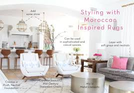 styling with moroccan inspired rugs