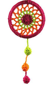 Dream Catcher Group Home Handmade Maroon Crochet Dream Catcher by Women Self Help Group 27