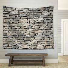 wall26 old stone wall texture fabric wall tapestry home decor 51x60 inches