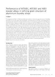 Aluminium Foundry Alloys
