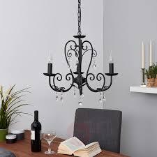 black chandelier sophina 3 bulb 9639022 01