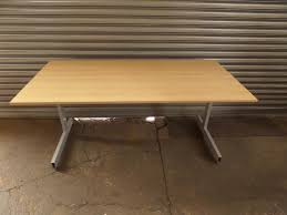 straight ikea maple wood 160cm office desk