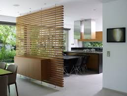Kitchen Divider Contemporary Wooden Room Divider Wood Floor Installation Warm