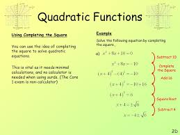 18 quadratic functions 2d example using completing the square