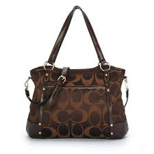 new fashion Coach Poppy Handbag Signature Chocolate on sale online, save up  to 80%