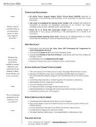 Sample Curriculum Development And Arts Advocacy Resume For Visual