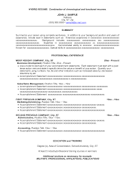Hybrid Resume Example Examples Of Resumes