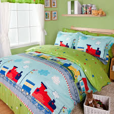 com norson fantastic journey by train duvet cover set green boys bedding kids bedding full size twin home kitchen