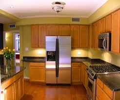remarkable kitchen lighting ideas black refrigerator. lamps galley kitchen design with brown floor and big refrigerator remarkable lighting ideas black a