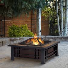 Wood Fire Pit Table   Morrison Steel Wood Burning Fire Pit Table