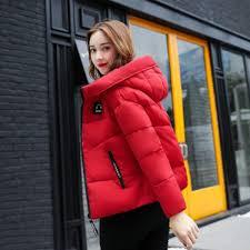 jolintsai 2017 winter jacket women parka new fashion short coat warm jackets hooded female cotton padded girls outwear