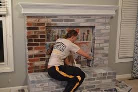 Is There A Way To Take Paint Off Painted Bricks On A Brick How To Clean Brick Fireplace