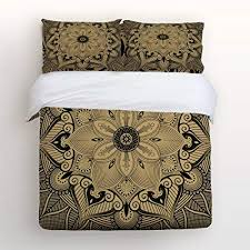 bed sheets pattern. Brilliant Sheets Libaoge 4 Piece Bed Sheets Set Mandala Pattern 1 Flat Sheet Duvet Cover Throughout Pattern N