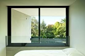 glass window with aluminum frame