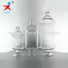 Decorative Storage Jars With Lids Home Decoration Large Clear Glass Storage Jar With Lids Buy 1