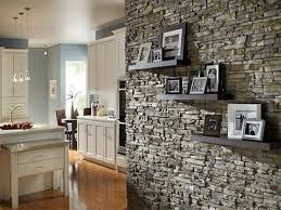 interior decorative stone wall design diy small living