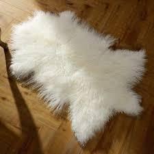 real mongolian fur throw tibetan lambskin rug hide pelt curl hair carpet 2 x3