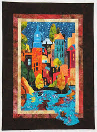 """Sheryl Martin's first cityscape quilt called """"City Nights."""" (19 ... & Sheryl Martin's first cityscape quilt called """"City Nights."""" (19"""