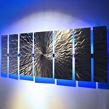 modern abstract metal wall art large metal art panels quot cosmic energy led quot  on metal wall art panels with amazon modern abstract metal wall art large metal art panels