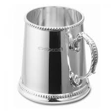 traditional christening tankard sterling silver