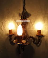 Lüster Verschnörkelt Kronleuchter 3 Messing Deckenlampe