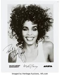 whitney black white. Beautiful White Music MemorabiliaAutographs And Signed Items Whitney Houston  Black White Photograph Intended