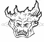 Страшная маска раскраска