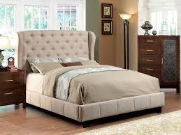 Full Upholstered Bed Frame Bed Ideas Ivory Fabric Tufted Upholstered Bed Frame Caravana