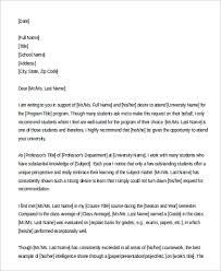 Re mendation Letter for Graduate School Format