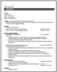 sample speech pathologist resume slp resume examples school slp  sample speech language pathology resume essay example of an essay