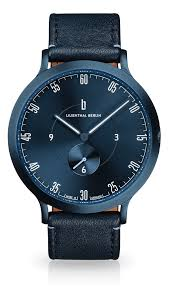 l1 all blue blue watches lilienthal berlin award winning designer watches