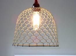 Rustic Pendant Lightingchicken wire farmhouse pendant