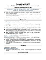 Midlevel Lab Technician Resume Sample Monster Com Medical Cv Tem