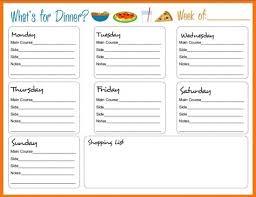 Babies Menu Planner Breathtaking Weekly Meals Planner Printable Weekly Meal Planner