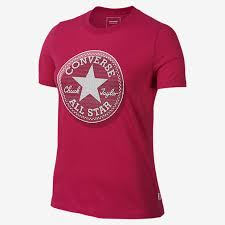 converse t shirt. made from soft cotton jersey, the converse micro dot chuck patch women\u0027s t-shirt deconstructs classic taylor all star logo in a micro-dot t shirt