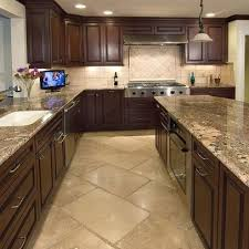 kitchens with dark cabinets and tile floors.  Tile Tan Kitchen Floor Tile  Dark Cabinets With Design Ideas  Pictures Remodel And  Kitchens And Floors N