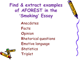 persuasive writing techniques aforest and fap ppt video online  find extract examples of aforest in the smoking essay