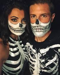couples costume skeleton makeup