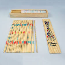 Game With Wooden Sticks Hot 100sets Baby Educational Wooden Traditional Mikado Spiel Pick 7