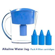 water filtering jugs alkaline water jug pack 4 replacement filter cartridges liter alkaline ionizer blue water water filtering jugs