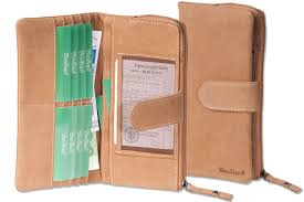 woodland large luxury las leather wallet made from natural soft buffalo leather in cognac 2222904