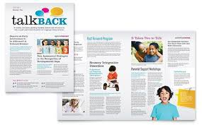 Education Newsletter Templates Speech Therapy Education Newsletter Template Design