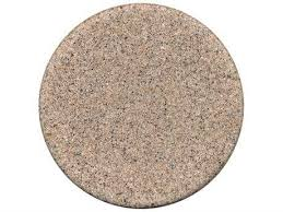 tropitone stoneworks faux granite stone 48 round solid table top