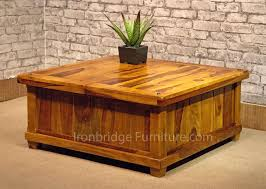 storage trunk coffee table living room furniture vintage rustic wood dark large square chest plans