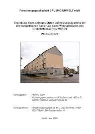 Forschungsgesellschaft Bau Und Umwelt Mbh Erprobung Eines
