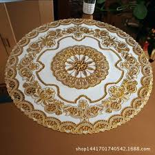 table mat hollow plastic tablecloth round table mat mat table cloth bronzing table cloth round table table mat
