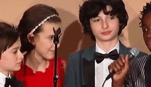 millie bobby brown and finn wolfhard. millie bobby brown and finn wolfhard cute @ sag awards wolfhard,