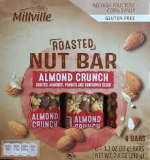 aldi roasted nut bar nutrition review calories snack
