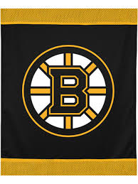 sports coverage nhl boston bruins hockey logo wall hanging accent decor tapestries